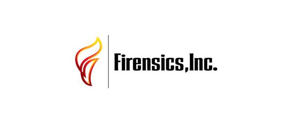 letter f logo design firensics