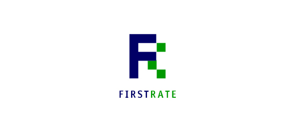 letter f logo design first rate
