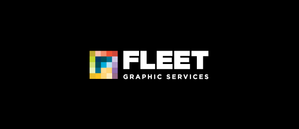 letter f logo design fleet graphics