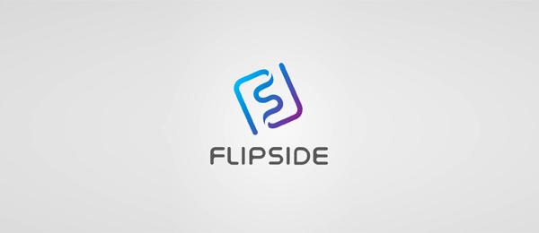 letter f logo design flipside