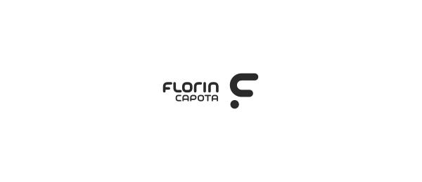 letter f logo design florin capota