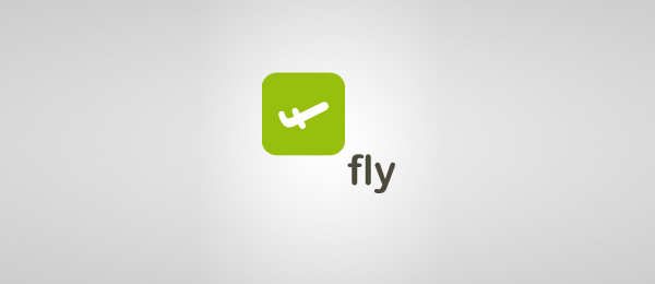 letter f logo design fly