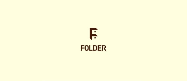 letter f logo design folder