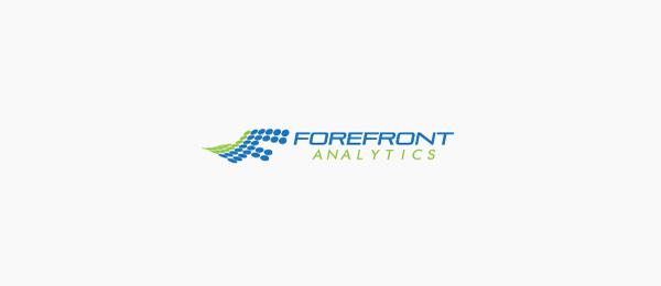 letter f logo design forefront analytics