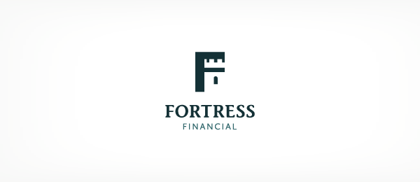 letter f logo design fortress financial