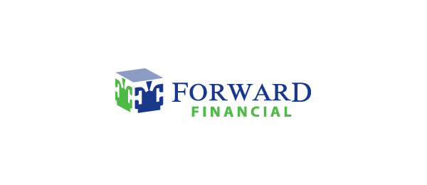 letter f logo design forward financial
