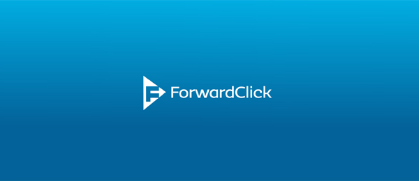 letter f logo design forwardclick
