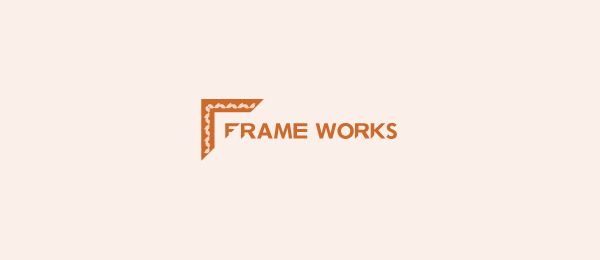 letter f logo design frameworks