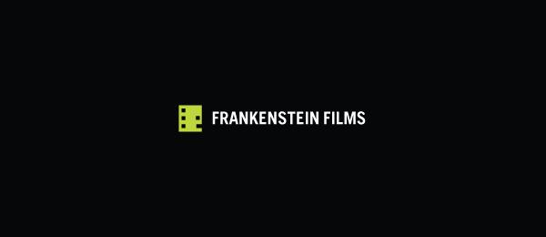 letter f logo design frankenstein films