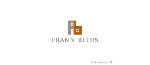 letter f logo design frann