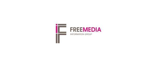 letter f logo design freemedia