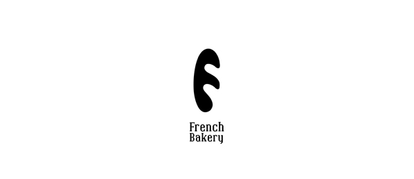 letter f logo design french bakery