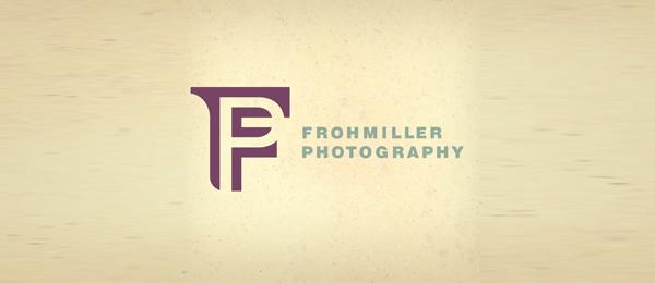 letter f logo design frohmiller photography