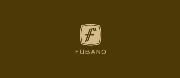 letter f logo design fubano