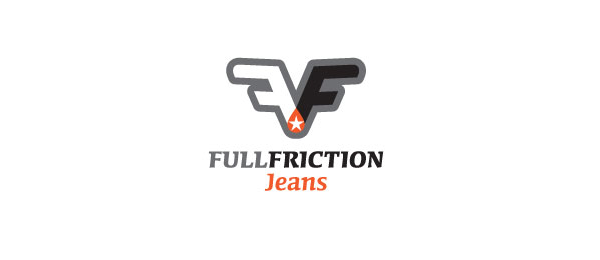letter f logo design full friction
