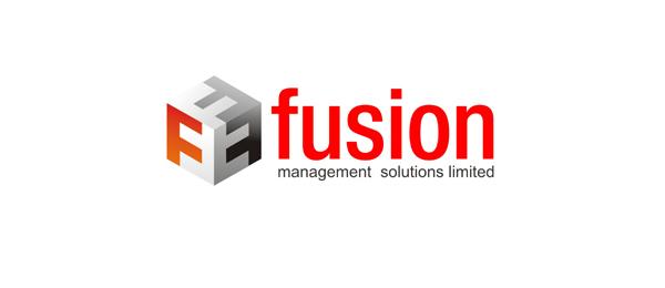letter f logo design fusion