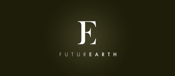 letter f logo design futurearth
