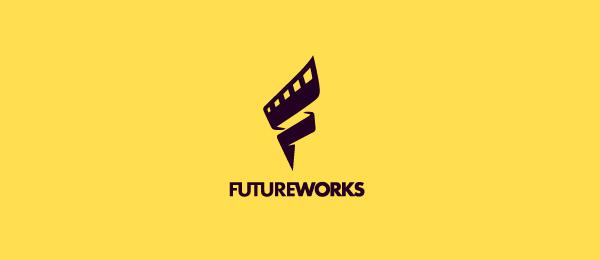 letter f logo design futureworks