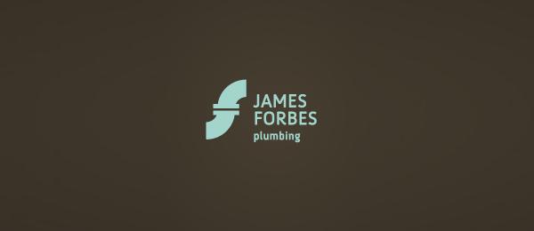 letter f logo design james forbes plumbing