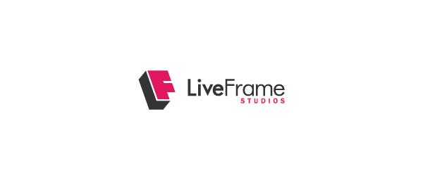 letter f logo design liveframe studios