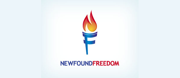 letter f logo design newfound freedom