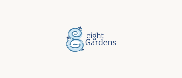 letter g logo design eight gardens