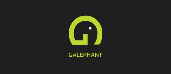 letter g logo design galephant