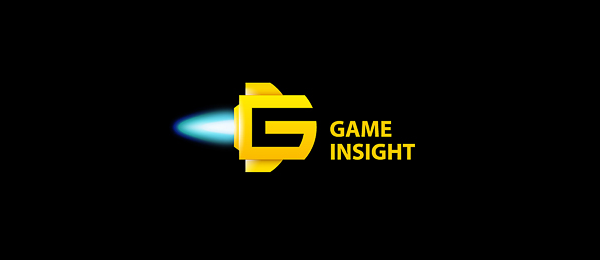 letter g logo design game insight