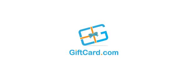 letter g logo design gift card