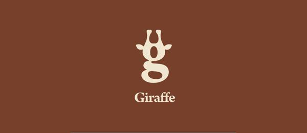 letter g logo design giraffe