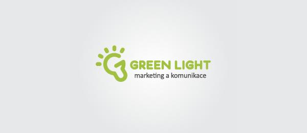letter g logo design green light
