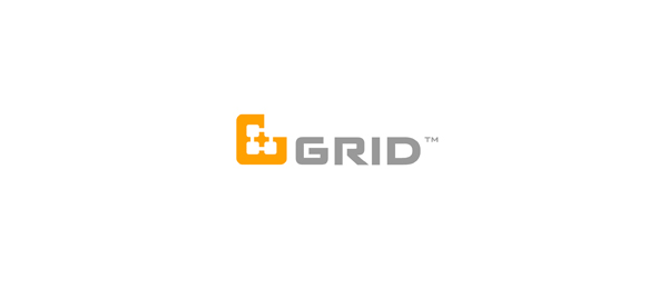 letter g logo design grid