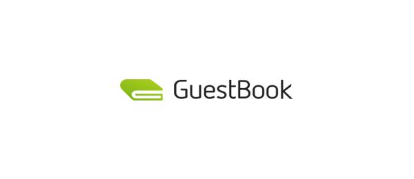 letter g logo design guest book