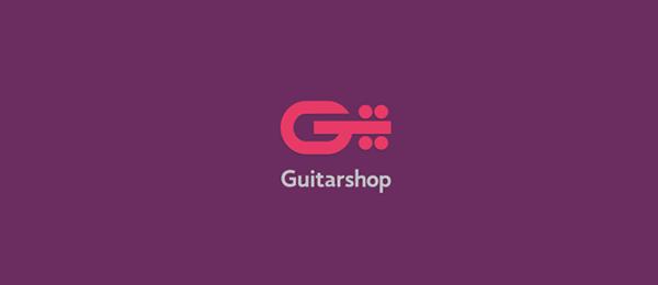 letter g logo design guitar shop