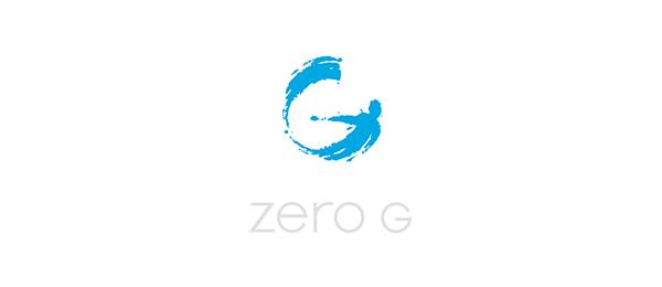 letter g logo design zero g