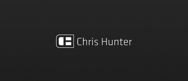 letter h logo design chris hunter