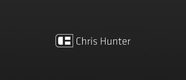 letter h logo design chris hunter