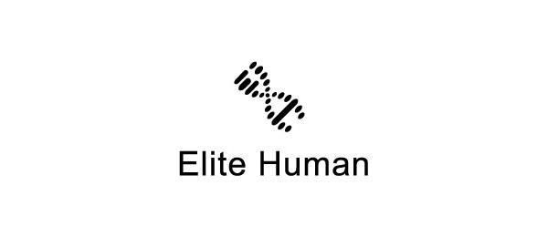 letter h logo design elite human