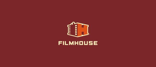 letter h logo design filmhouse