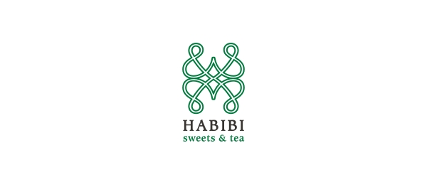letter h logo design habibi