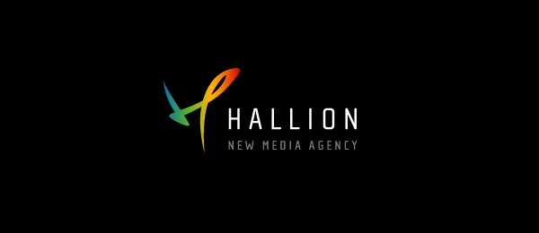letter h logo design hallion