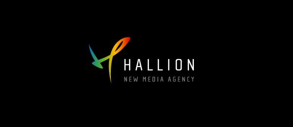 letter h logo design hallion