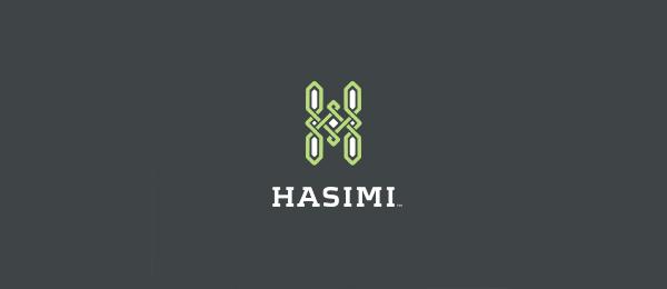 letter h logo design hasimi