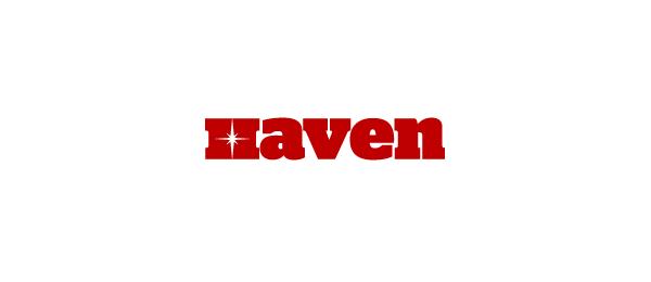 letter h logo design haven