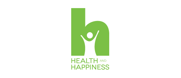 letter h logo design health and happiness