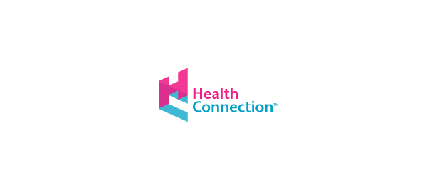 letter h logo design healthconnection