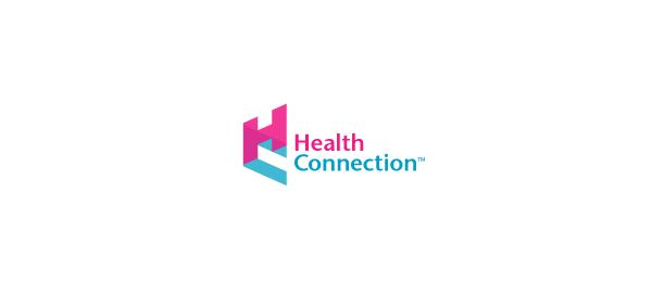 letter h logo design healthconnection