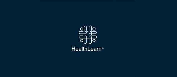 letter h logo design healthlearn