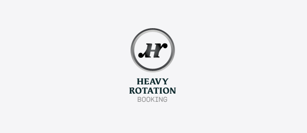 letter h logo design heavy rotation