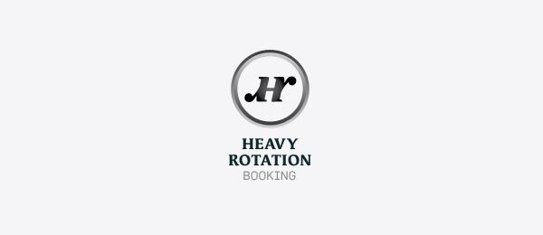 letter h logo design heavy rotation